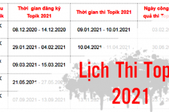 Cập nhật lịch thi TOPIK năm 2021