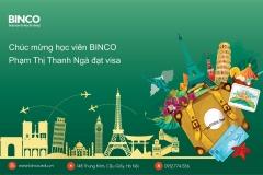 BINCO xin chúc mừng em Phạm Thị Thanh Ngà đã được cấp visa du học Ireland
