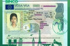 BINCO xin chúc mừng em Phạm Thùy Dương đã được cấp visa du học Ireland