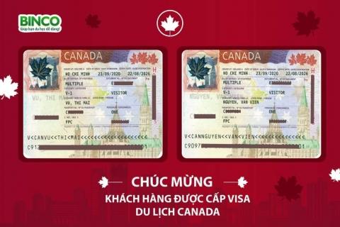 BINCO xin chúc mừng cô Vũ Thị Mai và chú Bùi Văn Viện đã được cấp visa du lịch Canada