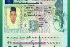 BINCO xin chúc mừng em Nguyễn Duy Hưng đã nhận được visa du học Ireland