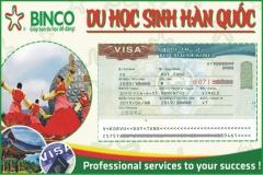BINCO xin chúc mừng em VŨ DUY TÙNG đã được cấp visa thẳng sang Hàn Quốc du học
