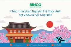 BINCO xin chúc mừng em Nguyễn Thị Ngọc Ánh đã đạt visa du học Nhật Bản