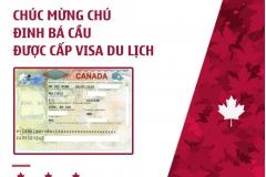 CHÚC MỪNG CHÚ ĐINH BÁ CẦU ĐẠT VISA DU LỊCH CANADA