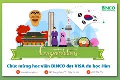 Binco xin chúc mừng em Phạm Văn Duy đã nhận được visa du học Hàn theo diện học đại học