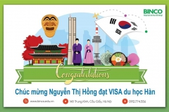 BINCO xin chúc mừng em Nguyễn Thị Hồng đã nhận được visa du học Hàn Quốc