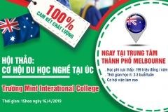 Hội thảo: Cơ hội du học nghề tại Úc - Trường MINT International College
