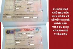 Chúc mừng chú Nguyễn Huy Hoan và cô Vũ Thị Huệ đã được cấp visa du lịch Canada