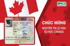 BINCO xin chúc mừng em Nguyễn Thị Lệ đã được cấp visa du học Canada