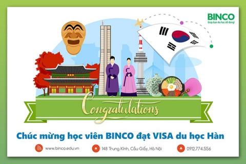 BINCO xin chúc mừng em Nguyễn Thị Mỹ Nương đã được cấp visa du học Hàn - chương trình visa 2 năm (visa đại học)