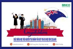 BINCO xin chúc mừng em Nguyễn Thị Khánh Vân đã được cấp visa đi du học New Zealand